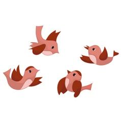 set of four birds vector image