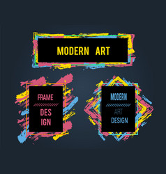 set of frames and banners for text modern art vector image