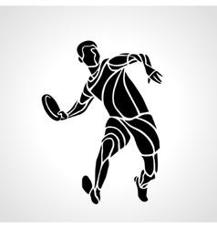 Sportsman throwing frisbee vector