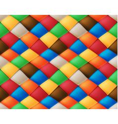 Variegated silk asymmetrical patchwork seamless vector