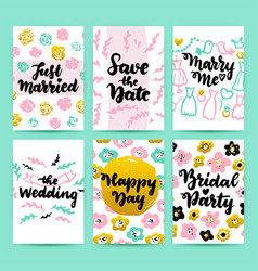 wedding greeting posters vector image