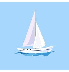 Yacht on the Water vector