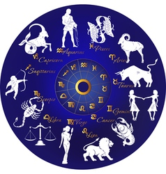 Zodiac signs vector image