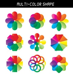 - Color flower wheel vector image vector image