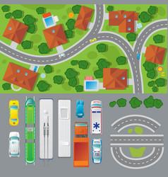 City landscape top view concept vector