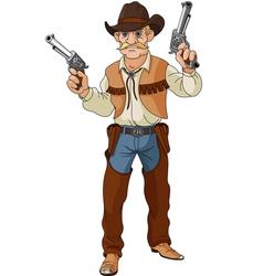 Cowboy ready for shootout vector image