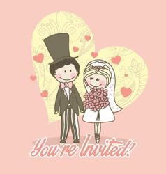 Cute invitation vector