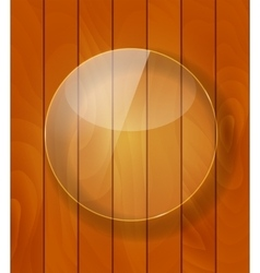 Glass Frame on Checkered Abstract Woody vector image