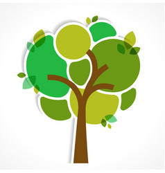 Green tree - background and infographics vector image vector image