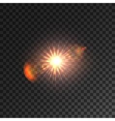 Light lens flare Shining sun with bokeh effect vector image