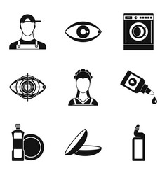 pro icons set simple style vector image