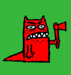 red hangman with ax vector image