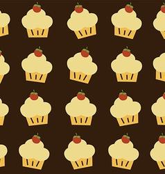 Cherry top cupcake theme vector