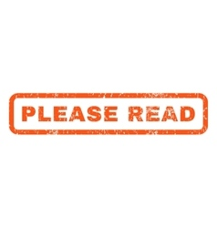 Please Read Rubber Stamp vector image vector image