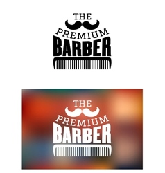 Retro barber shop emblem vector image vector image