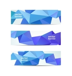 set of crystal modern faceted geometric vector image vector image
