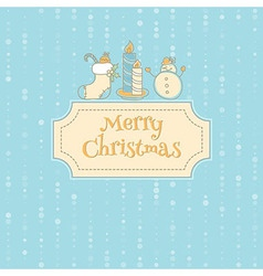 Xmas objects card vector image vector image