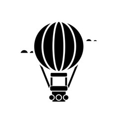air balloon - aerostat icon vector image
