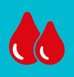 Blood red drop icon vector