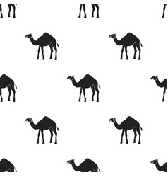 camel icon in black style isolated on white vector image vector image