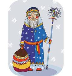 Grandfather Frost vector image vector image