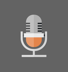 microphone icon modern mic audio system technology vector image vector image
