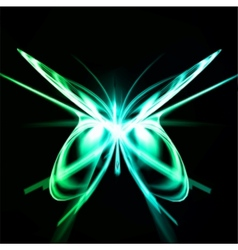 Shiny abstract butterfly futuristic wave vector image
