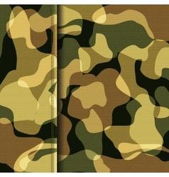 Camouflage khaki texture vector image