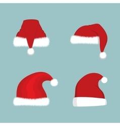 Santa Hat Set vector image vector image