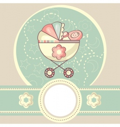 Abstract baby background vector