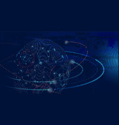 abstract global futuristic data technology concept vector image