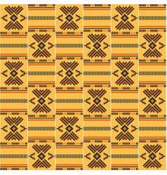African seamless pattern cloth kente tribal vector