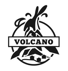 American volcano logo simple style vector