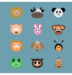 Animal face icon vector