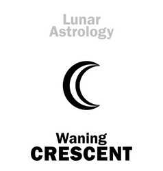 Astrology waning crescent moon vector