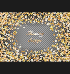 Background with golden stars of confetti vector