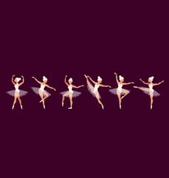 Ballerinas set ballet dancer characters vector