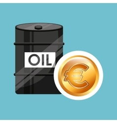 Barrel oil concept money international euro vector