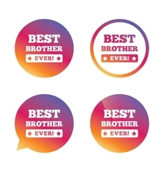 Best brother ever sign icon Award symbol vector image