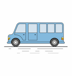 big tourist bus on white background vector image