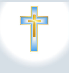 blue color cross background vector image