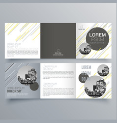 brochure design 969 vector image