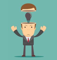 Business concept no ideas lamps vector