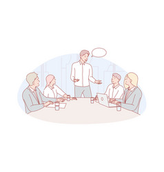 Business meeting leadership coworking concept vector