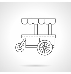 Cakes trolley flat thin line icon vector image