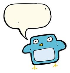 Cartoon bird with speech bubble vector