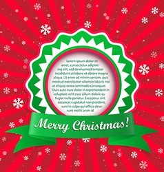 Christmas applique background with frame fo vector