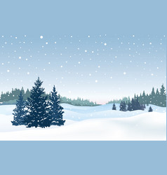 Christmas snowy background snow winter landscape vector