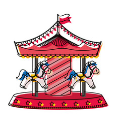 Circus carousel icon image vector