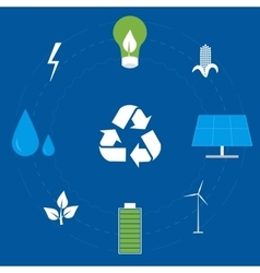 Clean Energy Icon Set vector image